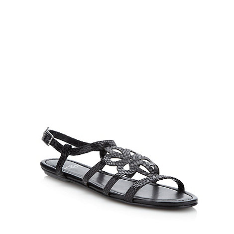 Faith - Black cutout flower sandals