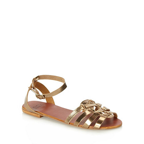 Faith - Bronze leather multi strap sandals
