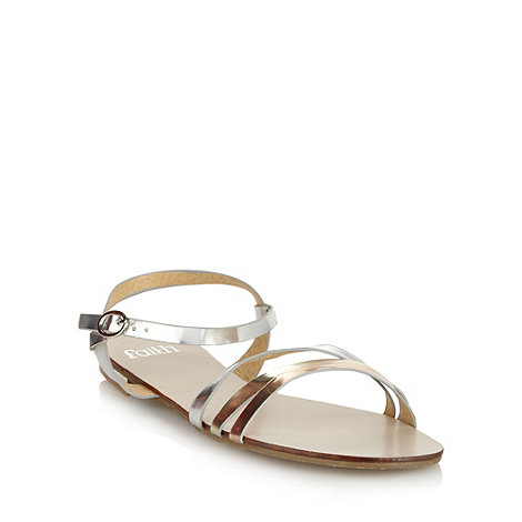 Faith - Silver metallic multi strap sandals