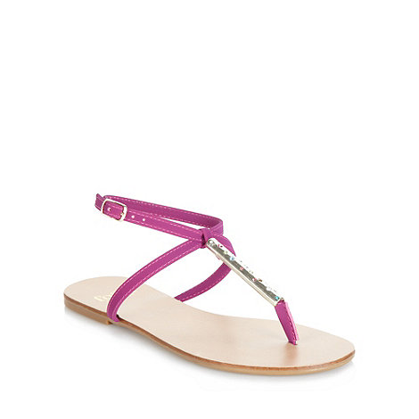 Faith - Pink diamante strap sandals