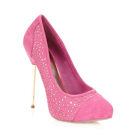 Faith - Pink cut work high court shoes
