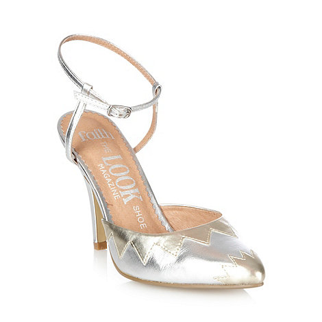 Faith - Silver scalloped border high court shoes
