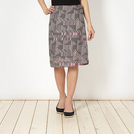 Mantaray - Grey broken striped skirt