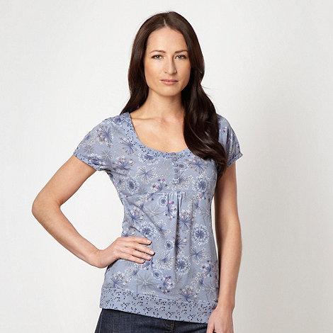 Mantaray - Blue floral printed t-shirt