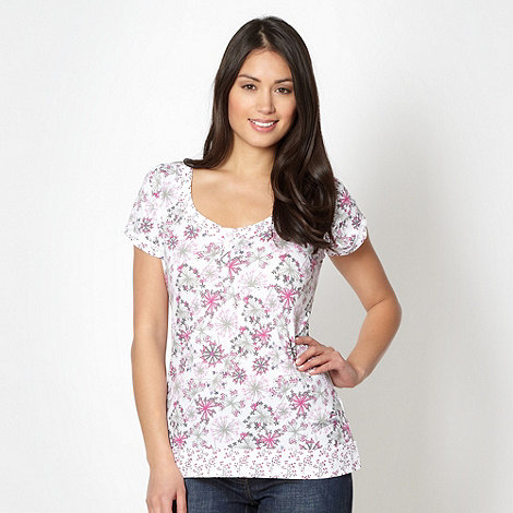 Mantaray - White floral jersey top