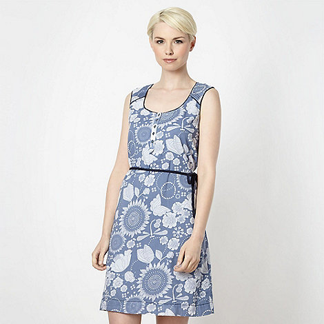 Mantaray - Blue floral ladybird dress