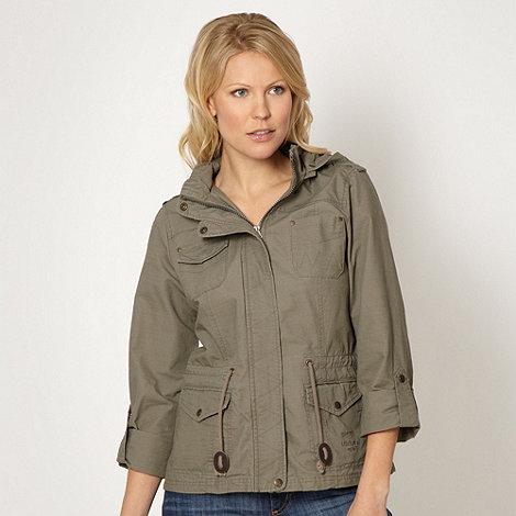 Mantaray - Khaki hooded parka jacket