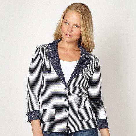 Mantaray - Dark blue striped spotted blazer