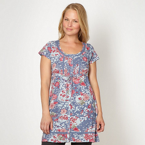 Mantaray - Blue drop waist tunic top
