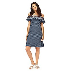Mantaray - Blue striped Bardot jersey dress