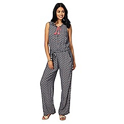 Mantaray - Navy printed jumpsuit