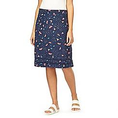 Mantaray - Navy watermelon print jersey skirt