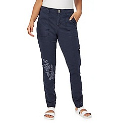 Mantaray - Navy embroidered chinos