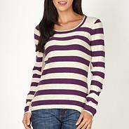Purple striped knit jumper