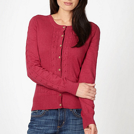 Mantaray - Rose cable knit cardigan