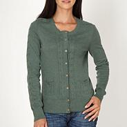 Green cable knitted cardigan