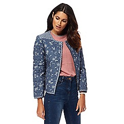 Mantaray - Blue floral quilted jacket