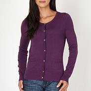 Purple crochet shoulder cardigan