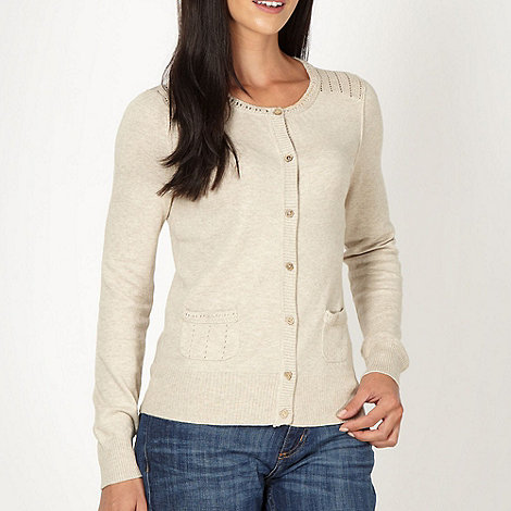 Mantaray - Natural crochet shoulder cardigan