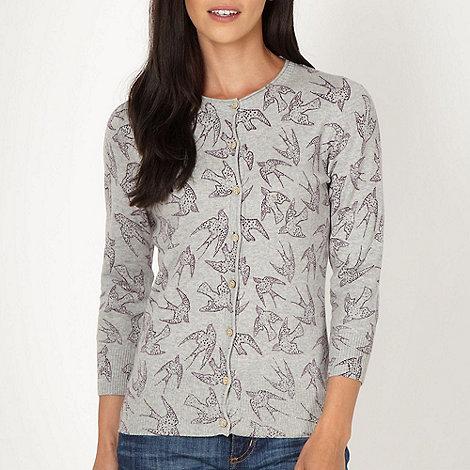 Mantaray - Grey bird cardigan