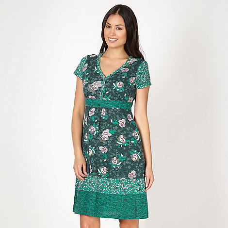 Mantaray - Green mix and match floral dress