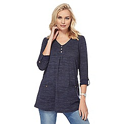 Mantaray - Navy V-neck tunic