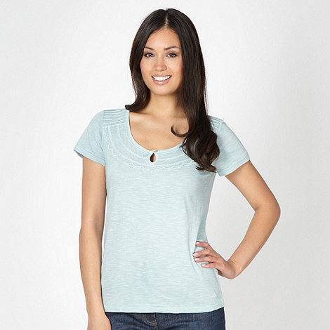 Mantaray - Pale green stitch neck t-shirt