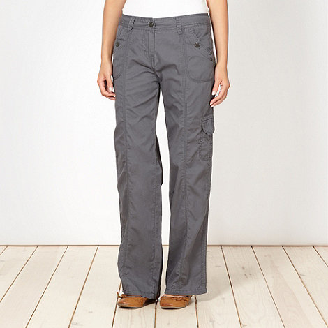 Mantaray - Grey stitch detail combat trousers