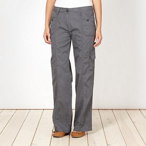 Mantaray - Grey stitch detail combat trousers