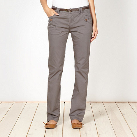 Mantaray - Grey belted chinos