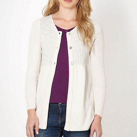 Mantaray - Cream cable knit empire cardigan