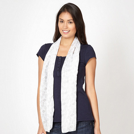 Mantaray - Navy plain top and scarf set