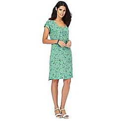 Mantaray - Green 'Dotty Ocean' dress