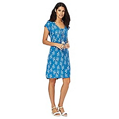 Mantaray - Blue Dotty Ocean dress