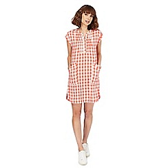 Mantaray - Peach gingham check shift dress