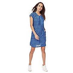 Mantaray - Blue gingham check shift dress