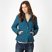 Dark turquoise hooded jacket