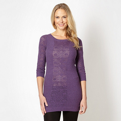 Mantaray - Purple knitted tunic top