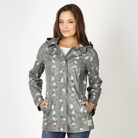 Mantaray - Grey floral mac
