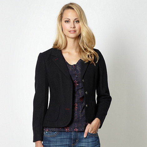 Mantaray - Navy wool blend button blazer
