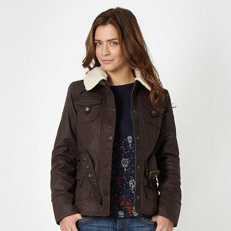 Mantaray - Chocolate waxed four pocket jacket