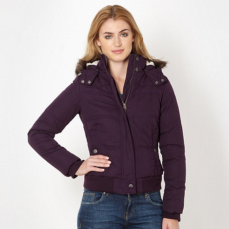 Mantaray - Dark purple padded jacket