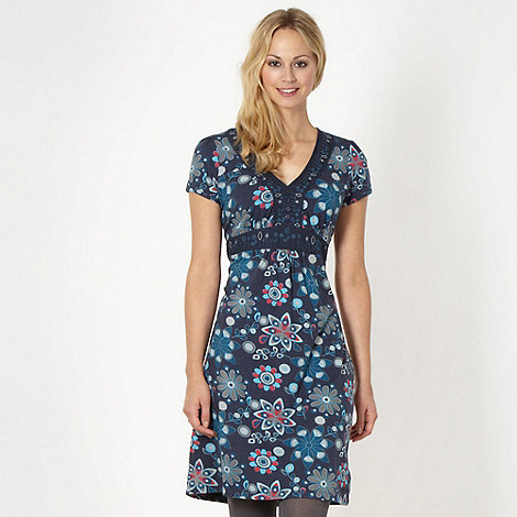 Mantaray - Navy floral jersey dress