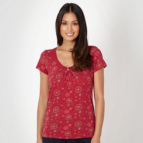 Mantaray - Dark pink circle t-shirt