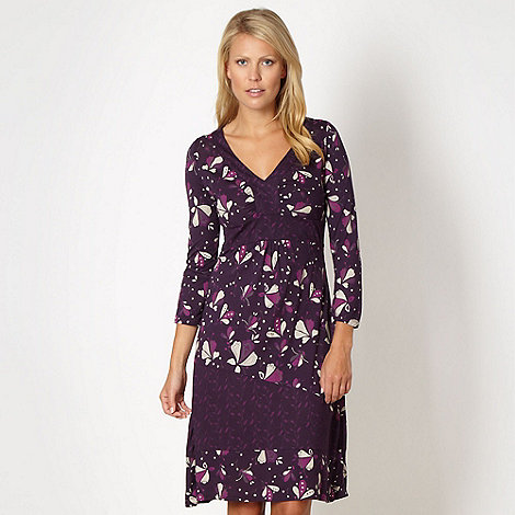 Mantaray - Dark purple woven floral dress