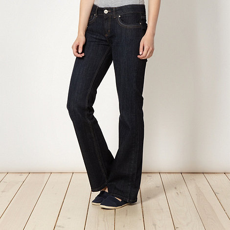 Mantaray - Dark blue bootcut dark rinse jeans