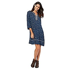 Mantaray - Navy arrow print knee length tunic dress