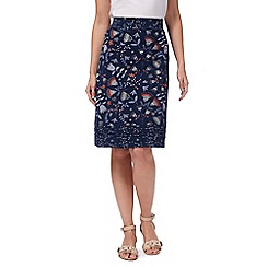Mantaray - Blue tulip print skirt