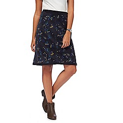 Mantaray - Grey floral embroidered skirt