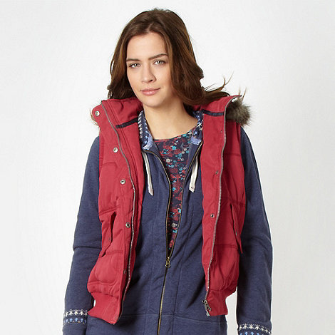 Mantaray - Designer rose borg fleece lined gilet